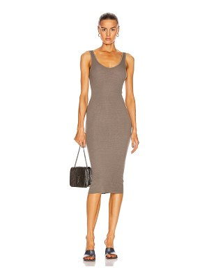 Enza Costa silk rib tank midi dress