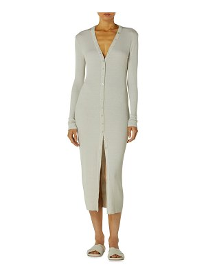Enza Costa Silk Ribbed Cardigan Dress