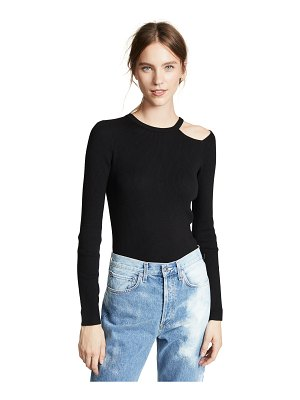 Equipment adair cutout rib crew sweater