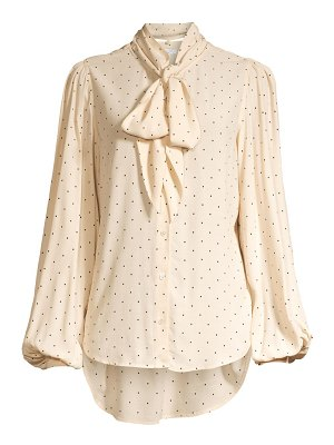 Equipment cleone polka dot tieneck blouse