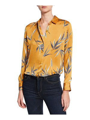 Equipment Essential Leaf-Printed Button-Front Shirt