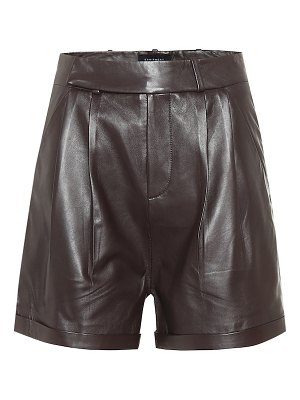Equipment high-rise leather shorts