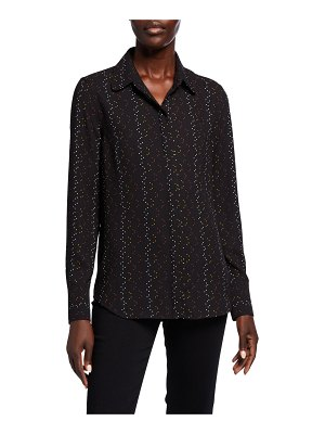 Equipment Inisse Printed Button-Front Shirt