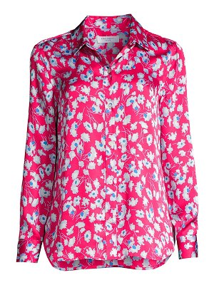 Equipment leema floral silk blouse
