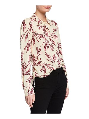 Equipment Leema Printed Button-Down Shirt with Pocket