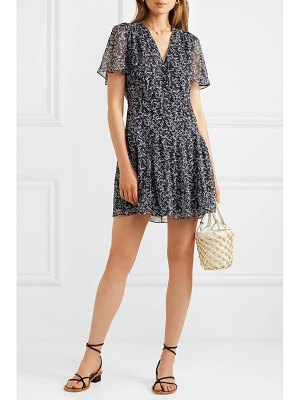 Equipment lisle floral-print silk-chiffon mini dress