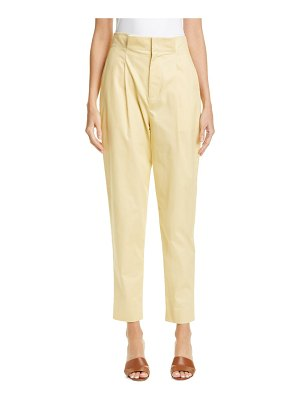 Equipment lucylle paperbag waist cotton trousers