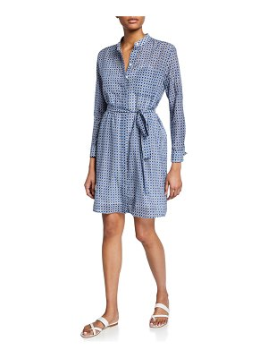Equipment Ravena Printed Long-Sleeve Button-Front Dress