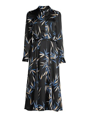 Equipment sabenne palm print maxi shirtdress