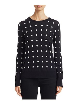 Equipment shane dotted wool-blend sweater