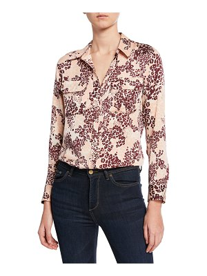 Equipment Slim Signature Leopard-Print Button-Down Shirt