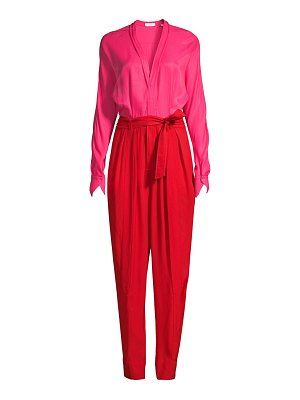 Equipment zephrina colorblock jumpsuit