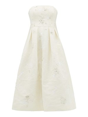 Erdem alina crystal-embellished chantilly-lace dress