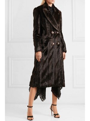 Erdem almeda double-breasted faux fur coat