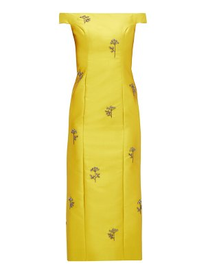 Erdem angelique beaded mikado midi dress