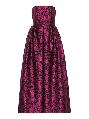 Erdem carenna rose jacquard gown