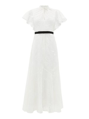 Erdem celestina embroidered-lace cap-sleeve gown