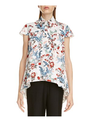 Erdem clovelly floral print high/low top