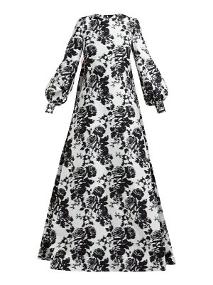 Erdem clover rosechine jacquard cotton blend gown