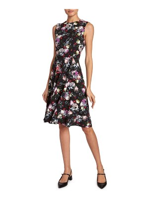 Erdem Dylanne Sleeveless Fluted Dress