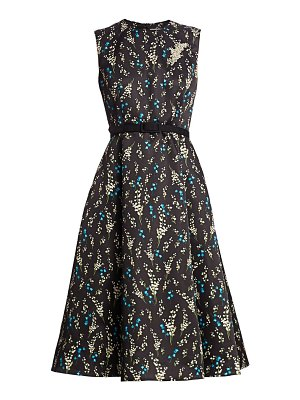 Erdem farrah willow ditsy mikado belted fit-&-flare dress