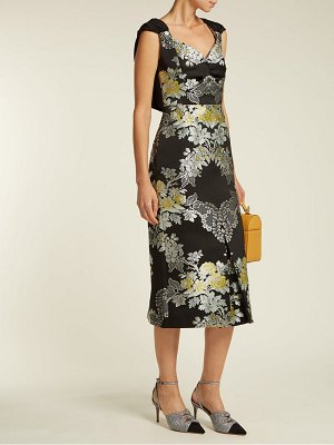 Erdem Gretchen Adele rose jacquard midi dress
