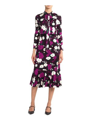 Erdem Hilma Bow Flounce Dress