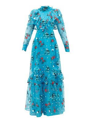 Erdem horacia embroidered-organza gown