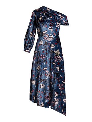 Erdem Jacobina Tulip Dream Print Velvet Gown