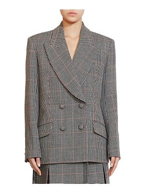 Erdem jasper check wool jacket