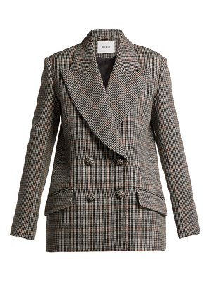 Erdem Jasper Houndstooth Checked Wool Blazer