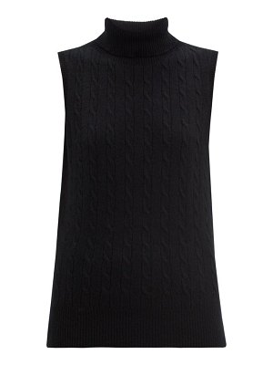 Erdem jonquil roll-neck cable-knit cashmere sweater