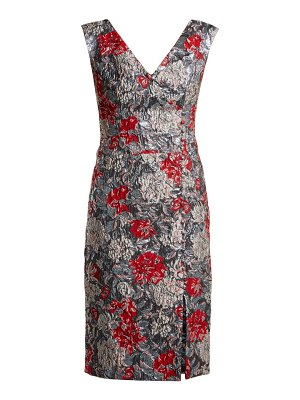 Erdem Joyti Rose Jacquard Dress