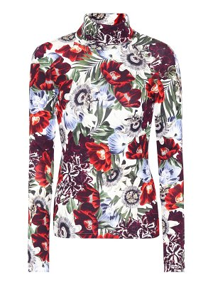 Erdem Kelly floral-printed turtleneck top