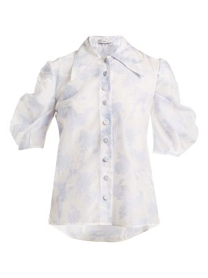 Erdem Point-collar floral top