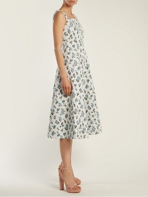 Erdem Polly Floral Jacquard Dress