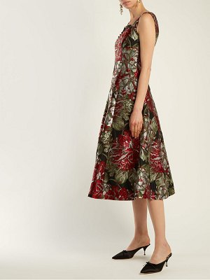 Erdem Polly Flower Jacquard Dress