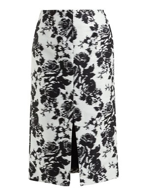 Erdem rhetta rosechine jacquard pencil skirt