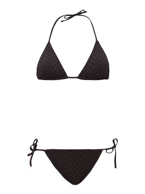 ERES veston woven-effect triangle bikini