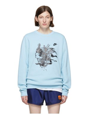 ERL blue nike edition witch 4 sweatshirt