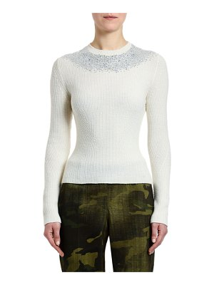 Ermanno Scervino Crystal-Embellished Ribbed Sweater