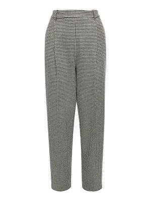 Ermanno Scervino Houndstooth wool blend straight pants