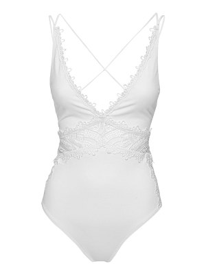 Ermanno Scervino Lace-up one piece swimsuit