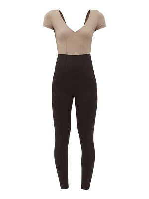 ERNEST LEOTY orianne v-neck stretch-jersey jumpsuit