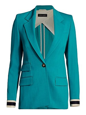 Escada begaskan stretch-wool jacket