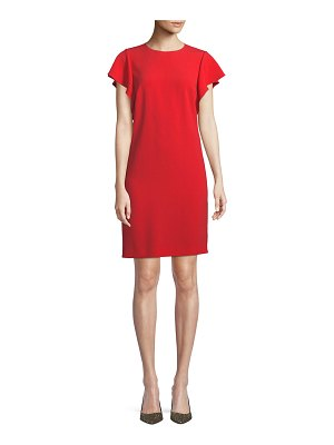 Escada Cascade-Ruffle Sleeveless Straight Chemise Dress