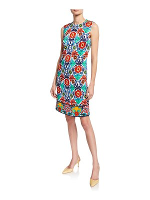 Escada Ceramic-Print Sheath Dress