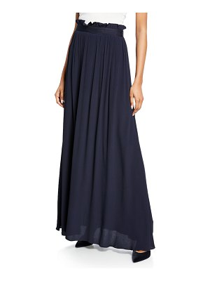 Escada Crinkled Crepe Maxi Skirt