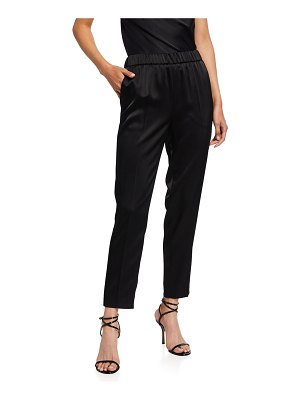 Escada Cropped Satin Pull-On Pants