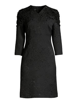 Escada delphine beaded jacquard shift dress